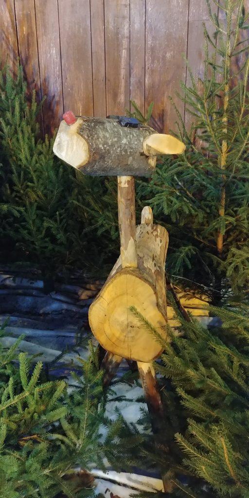 cerf décoratif en bois pour Noel