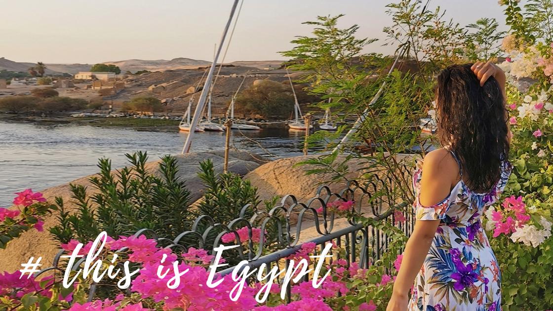 vue sur le Nile depuis l'hotel Sofitel Legend Old Catarct à Assouan