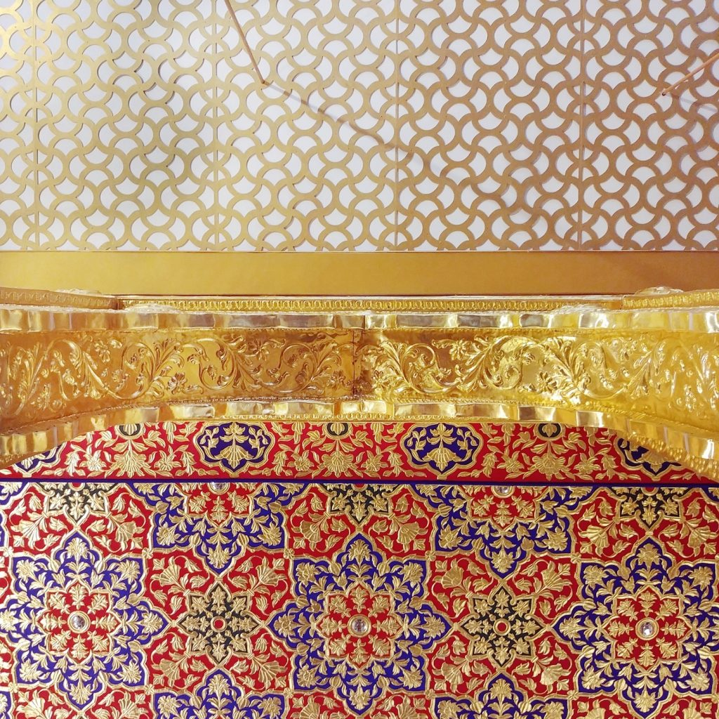 détails du plafond de la salle de prière