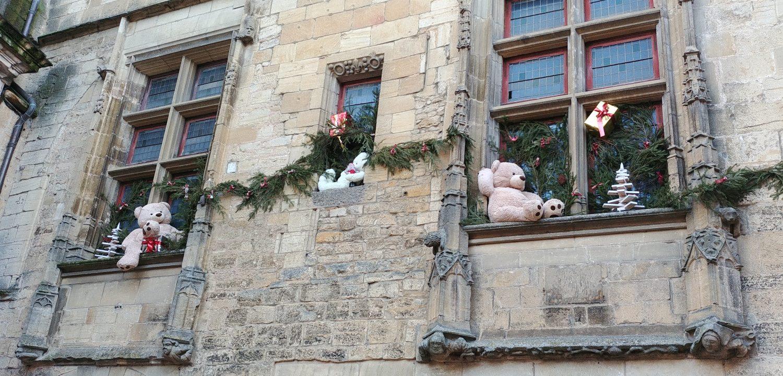 Décorations de Noël à Sarlat