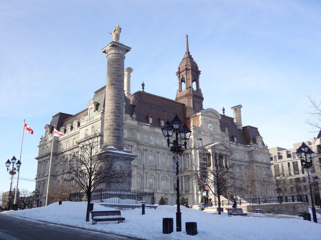 Facade extérieure de l'Hotel de vilel de Montréal