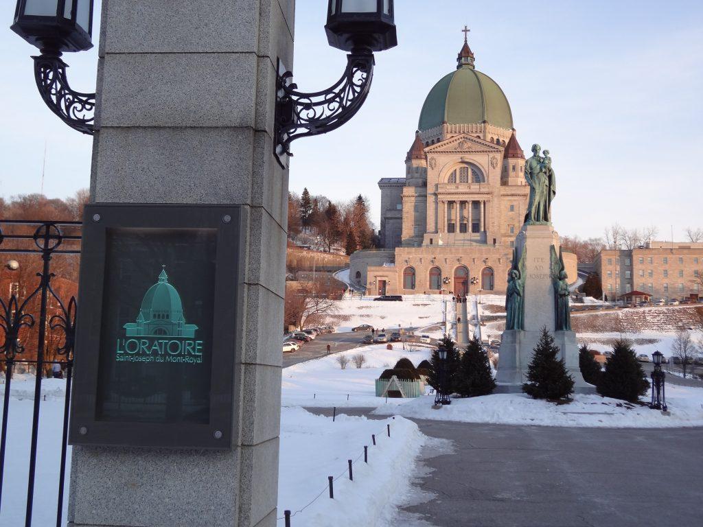 entrée de l'Oratoire de Montréal