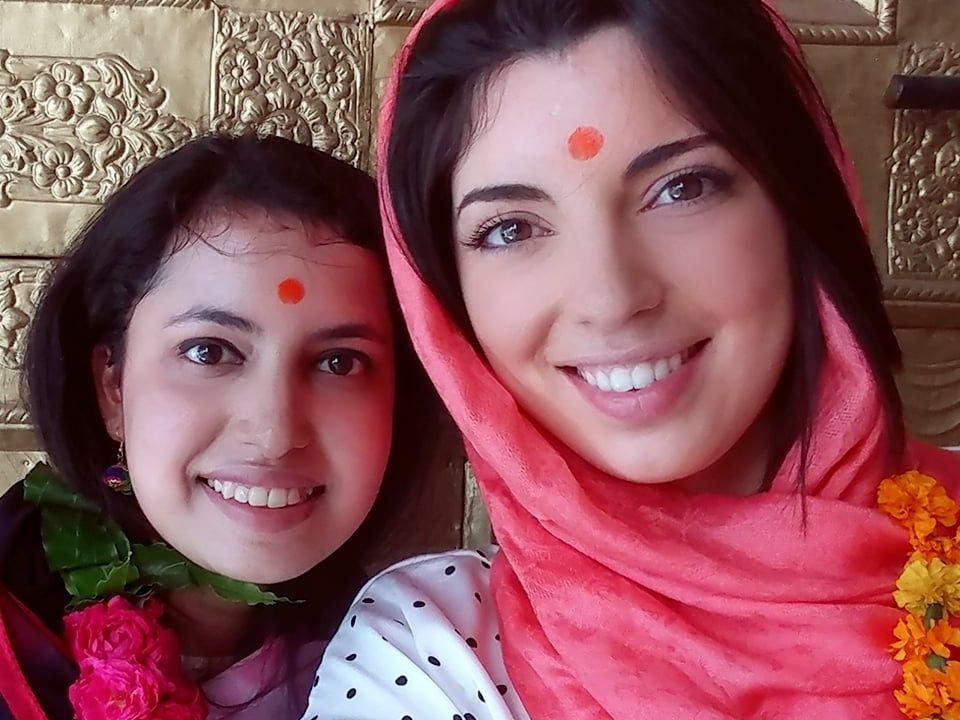 Carole et Tuhina à Delhi