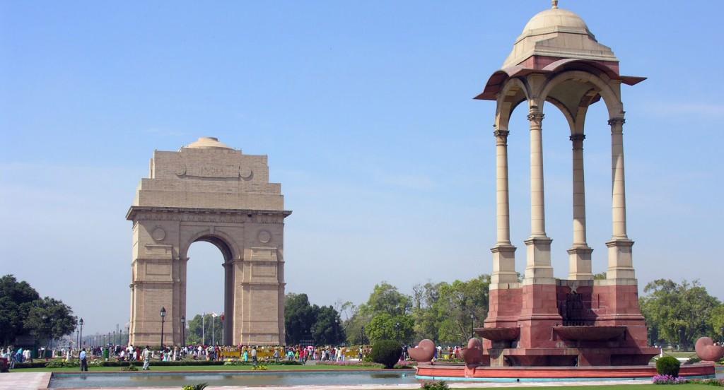 depusi le centre ville, vue panoramique sur la porte de l'Inde