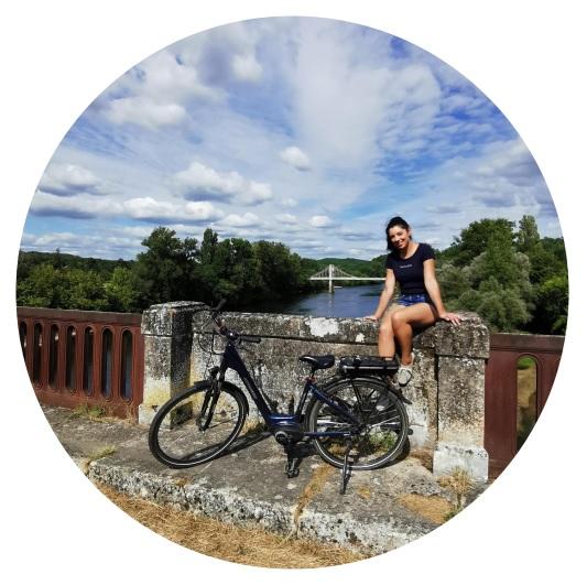 vélo sur la voie verte de Sarlat